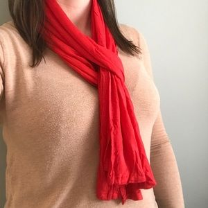 Accessories - Red Linen Scarf